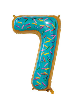 Giant Foil Young Editions Design 7 Number Balloon