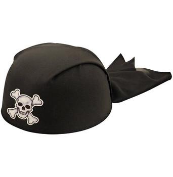 Halloween Black Adult Pirate Bandana Hat