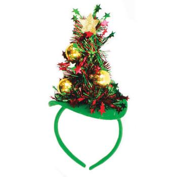 Tinsel Christmas Tree Design Headband