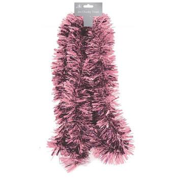 2m Chunky Blush Christmas Tinsel