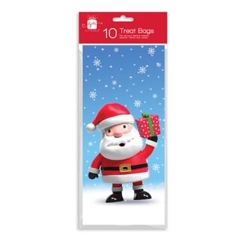Pack of 10 Kids Treat Christmas Twist Bags