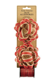Deluxe Kraft Double Bow Christmas Decoration