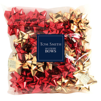 Pack of 30 Red And Gold Luxury Christmas Bows