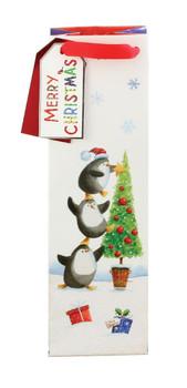 Christmas Penguin Design Whisical Bottle Bag