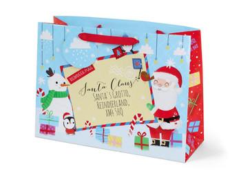 Christmas Santa And Friends Design Large Gift Bag