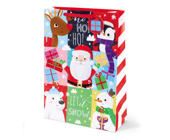 Christmas Santa And Friends Design Extra Large Gift Bag