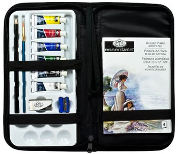 13 Pieces Essentials Keep & Carry Acrylic Painting Set In Case by Royal & Langnickel
