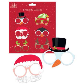 Pack of 6 Fun Christmas Board Glasses