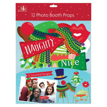 Pack of 12 Large Christmas Photo Booth Props
