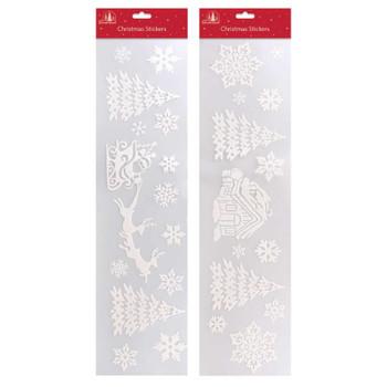 Snow Design Large Christmas Window Strip Sticker