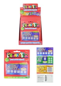 Prankster Christmas Fun Joke Lottery Tickets