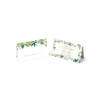 Pack of 12 Traditional Foliage Design Christmas Table Talk Placecard