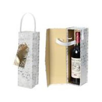 Golden Foliage Design Christmas Bottle Box