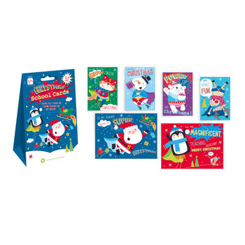 Pack of 32 Paint Characters Christmas School Cards