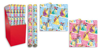 3m Disney Princess Design Christmas Gift Wrapping Paper