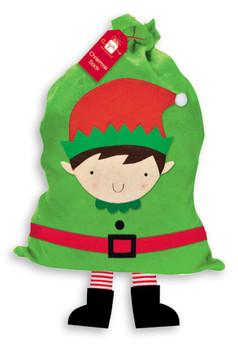 Elf With Legs Design Christmas Sack