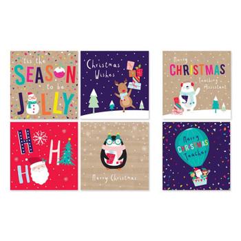 Pack of 30 Kids School Christmas Cards
