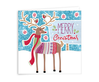 Pack of 6 Stag Design Handcrafted Christmas Cards