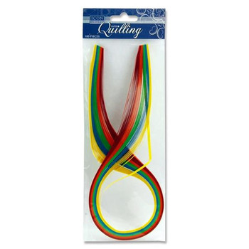Pack of 100 Bright Colour Quilling Papers by Icon Craft