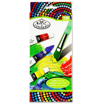 Pack of 12 12ml Artist Acrylic Paint Set by Royal & Langnickel