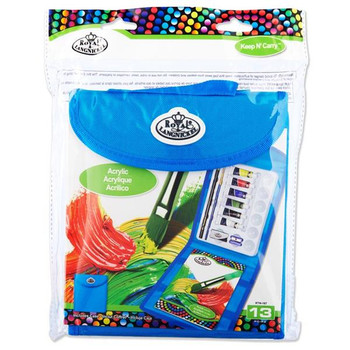 Keep N' Carry 13 Piece Acrylic Painting Set by Royal & Langnickel