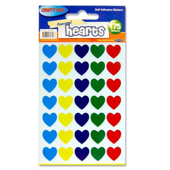 Pack of 175 Heart Shape Self Adhesive Stickers by Crafty Bitz