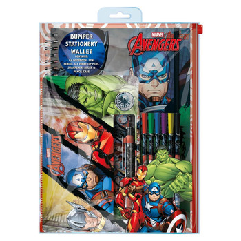 Avengers Bumper Stationery Wallet With PVC Case