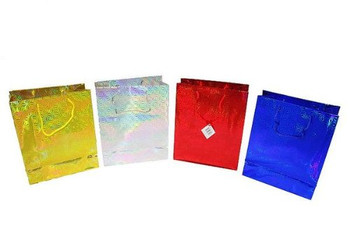 Gift Bag Small Holographic - Pack of 4 - Assorted Colours