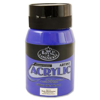 Dark Ultramarine Blue 500ml Essentials Acrylic Pot by Royal & Langnickel