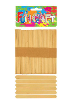 Pack of 50 Craft Wooden Lolly Sticks 11.3cm