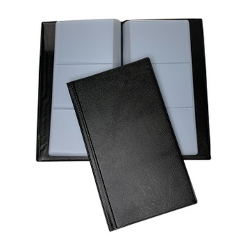 60 Pocket Black Name Business Card Holder by Janrax