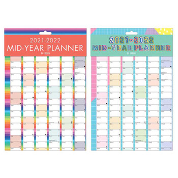 2021-2022 Large A1 Academic Mid Year Wall Planner