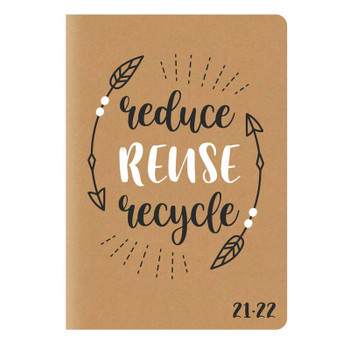 2021-2022 A5 Week To View Kraft Fully Recyclable Academic Diary
