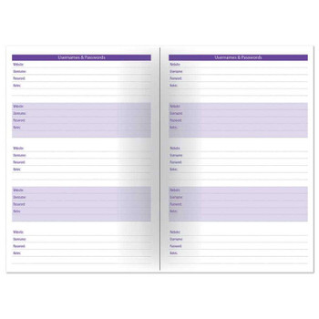 2021-2022 A5 Academic Week to View Foil Finish Design Organiser Diary With Elastic Closure