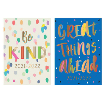 2021-2022 A5 Week to View Case Bound Colour Block Design Academic Diary