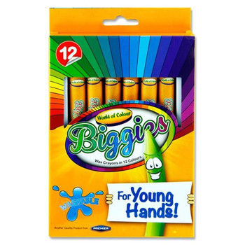 Box of 12 Young Hands Big Crayons by World of Colour