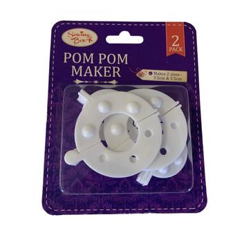 Pack of 2 Pom Pom Maker