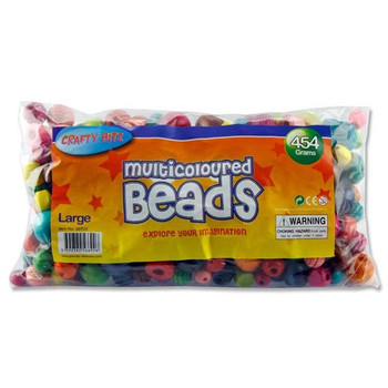 Bag of 454g Large Wooden Multicoloured Beads by Crafty Bitz