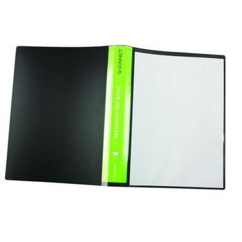 A4 40 Pocket Black Q-Connect Presentation Display Book