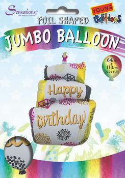 Birthday Cake Design Jumbo Foil Balloon