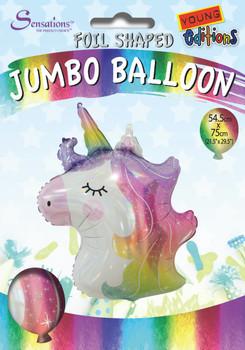 Unicorn Head Design Jumbo Foil Balloon