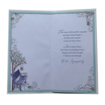 On The Loss of Your Brother Autumn Design Sympathy Opacity Card