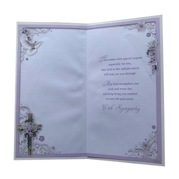 From All of Us Religious Cross Design Sympathy Opacity Card