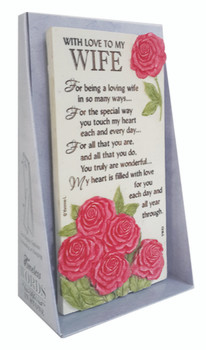With Love To My Wife Timeless Words Plaque