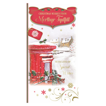 With Lots of Special Wishes From Merthyr Tydfill Christmas Card