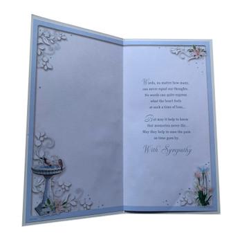 Loss of Nan Birdbath Fountain Design Sympathy Opacity Card