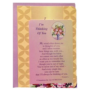 I'm Thinking of You Sentimental Keepsake Wallet / Purse Card