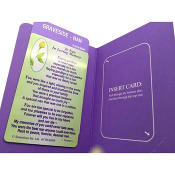 To Nan In Loving Memory...Wallet Card (Sentimental Keepsake Wallet / Purse Card)