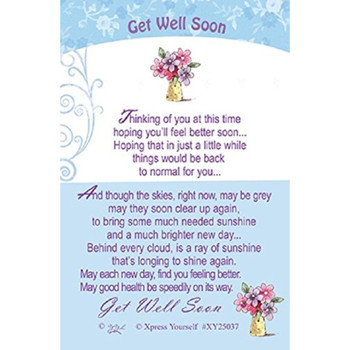 Good Luck Keepsake Card Get Well Soon