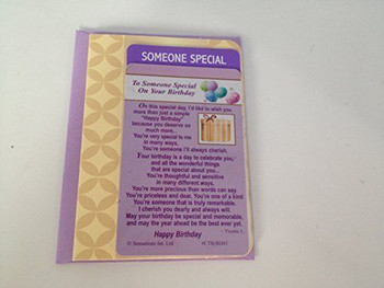 To someone Special on your Birthday ....Wallet Card (Sentimental Keepsake Wallet / Purse Card)